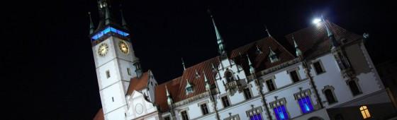 Česko svítí modře – Olomouc